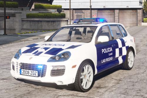 [policia local las rozas][textura/pintura][Porsche Cayyene]