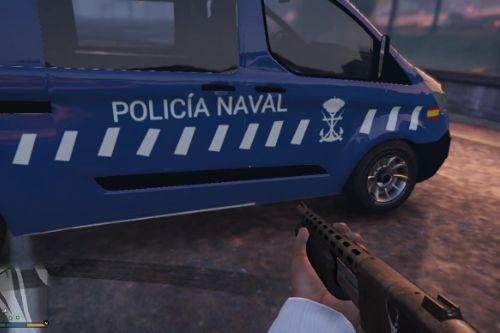 Policía Naval Española ford transit custom