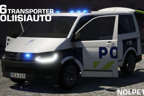 Poliisiauto Volkswagen Transporter T6 [NON-ELS / Add-On]