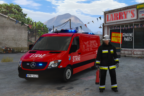 Polish firefighter's Mercedes Sprinter [Els Skin]
