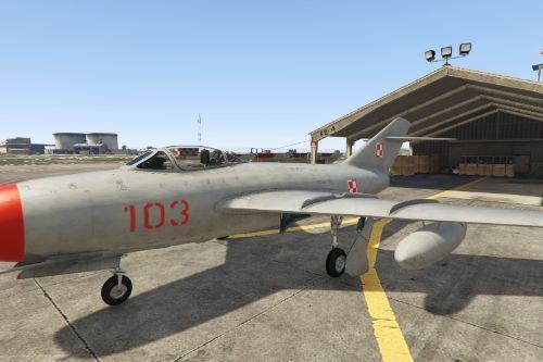 Polish MiG-15 Plane Polski Poland Polska