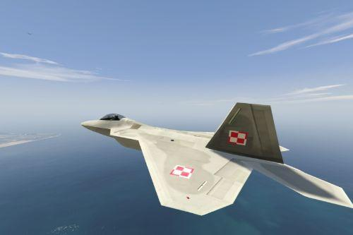 Polish Plane F-22 Raptor Polska Polski Poland
