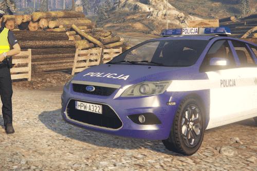 Polish Police Traffic Ford Focus MK2 (old painting scheme) || WRD KPP Wałcz