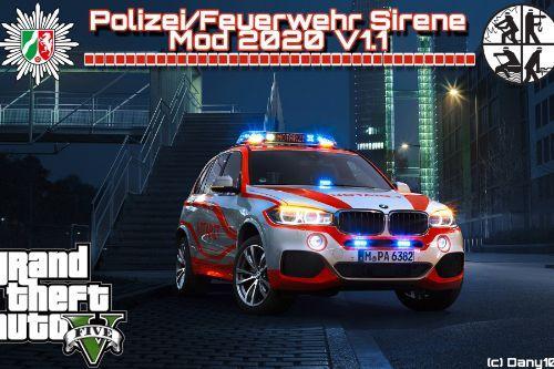 Polizei/Feuerwehr Sirene Modifikation 2020 V1.2
