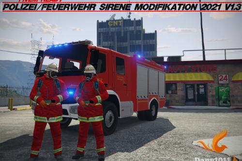 Polizei/Feuerwehr Sirene Modifikation 2021 V1.3.3
