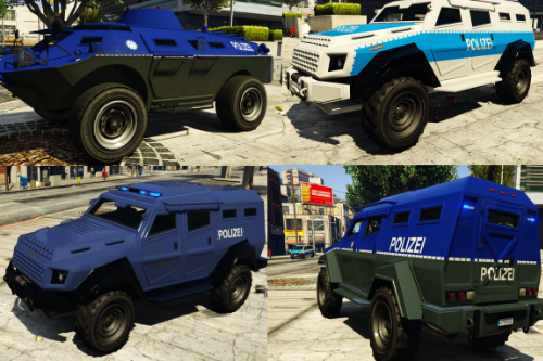 Polizei-Sonderwagen SEK / GSG9 / german SWAT vehicle liveries for Insurgent and APC