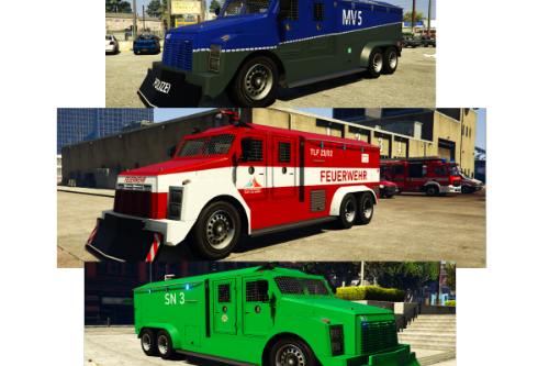 Wasserwerfer Polizei /  Feuerwehr Tanklöschfahrzeug / german riot2 / rcv liveries