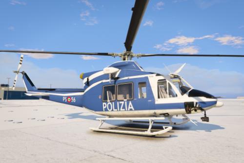 Polizia - Helicopter Bell 412 Elicottero Reparto Volo