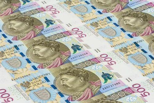 Polskie Banknoty 10, 20, 50, 100, 200, 500 złotych Polska Poland Polish