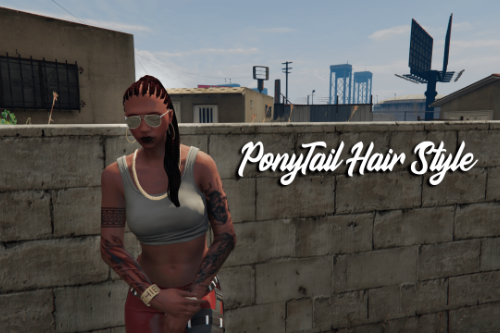 PonyTail Hair Style for MP Female