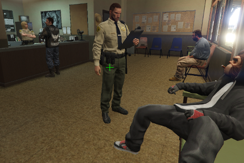 Populated Sandy Shores Police Department