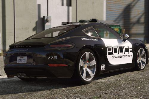 Porsche 718 Cayman S | Hot Pursuit Police [Add-On / Replace]
