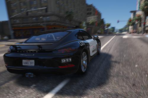 Porsche 718 Cayman S Police [Paintjob]