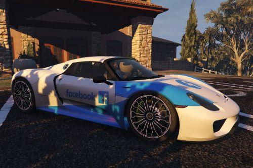 2015 Porsche 918 Spyder - Facebook Design [Paintjob]