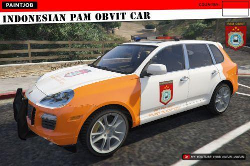 Porsche Cayenne - Indonesian PAM OBVIT Car | Polisi Indonesia