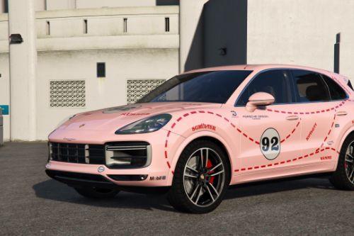 Porsche Cayenne Turbo 2018 - Pink Pig Paintjob