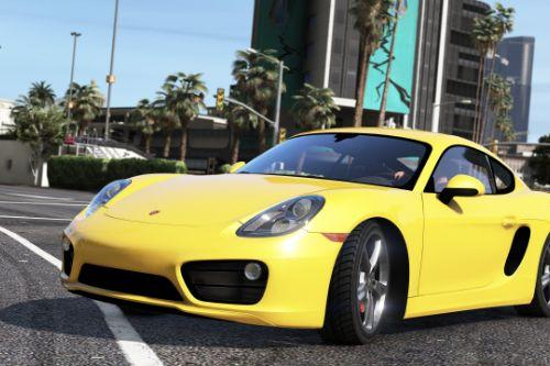 Porsche Cayman 981 GTS [Add-On / Replace | LODs | Tuning (GT4/RUF) | Wheels | Template]