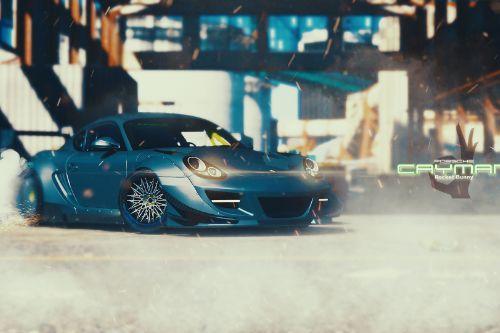 Porsche Cayman Rocketbunny [Replace]
