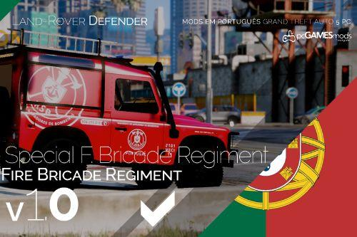 Portuguese Fire Bricade Regiment - VECI - Land Rover Defender [Add-On]