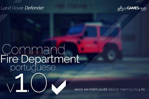 Portuguese Fire Department - Command - Land Rover Defender [Add-On]