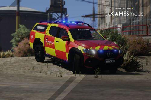 Portuguese Fire Department Volunteers - Mercedes-Benz X-Class x250d [ Add-On | Reflective | ELS ]