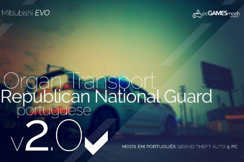 Portuguese National Republican Guard - Organ Transport - EVO [Add-On]