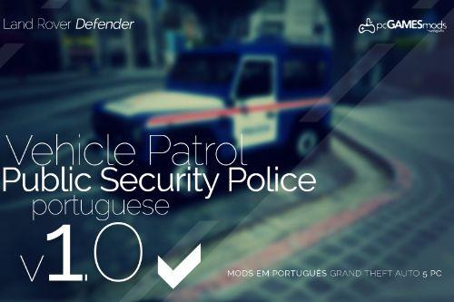 Portuguese Public Security Police - Patrol - Land Rover Defender [Add-On / Replace]