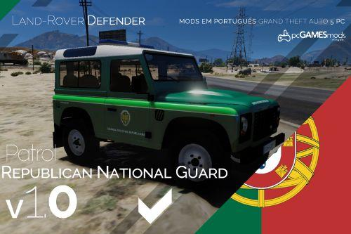 Portuguese Republican National Guard - Patrol - Land Rover Defender [Add-On / Replace]