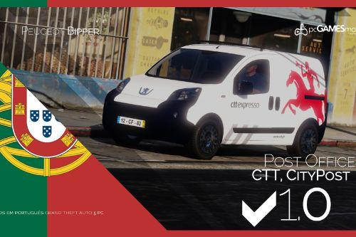 Portuguese Van Post Office - CTT & CityPOST - Peugeot Bipper [Replaced/Livery]