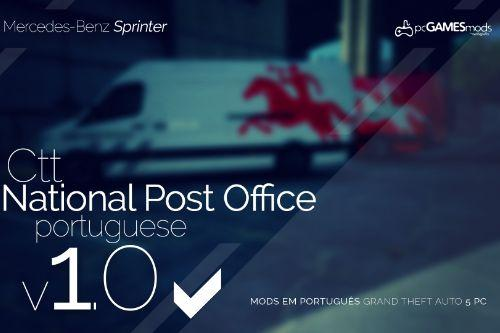 Portuguese Van Post Office - CTT - Mercedes Sprinter [ Replace ]