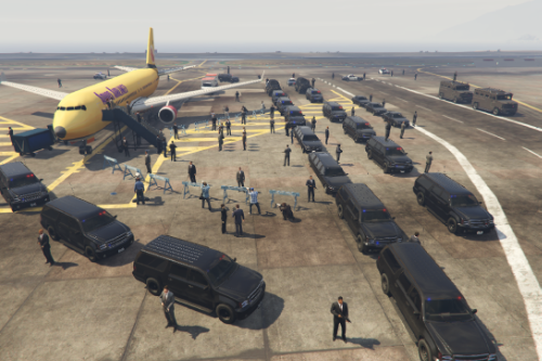 President Arrives At Los Santos International Airport [Map Editor]