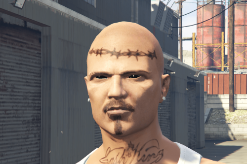 [MP Male] Prison Face Tattoo