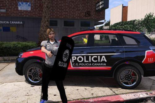 Protector balistico y placa de las Policias Canarias para LSPDFR 0.4.2