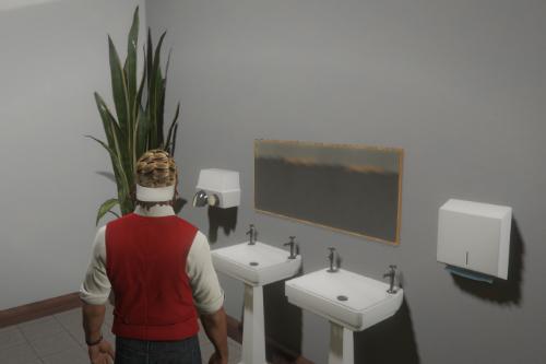Public Bathroom Props (toilet cabin, pissoir, mirror)