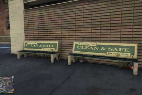 Public Service Bench Ad