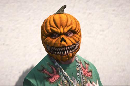 Halloween Pumpkin Head Mask (Franklin)