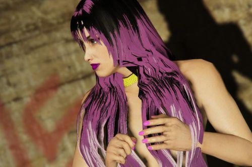 purple and red Nail hand for MP Female
