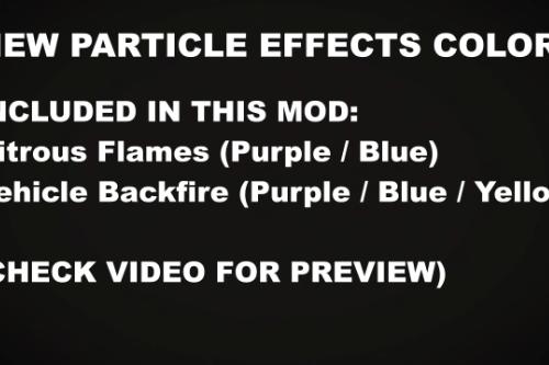 Purple | Blue Vehicle Flames / Backfire [Replace | SP | FiveM]