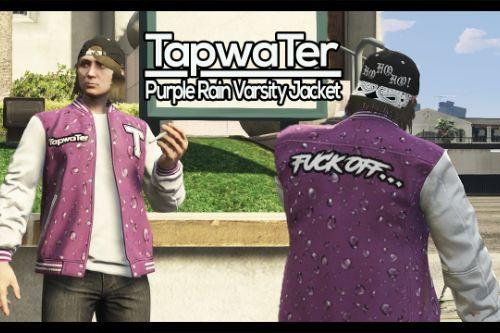 Purple Rain TapwaTer Varsity Jacket