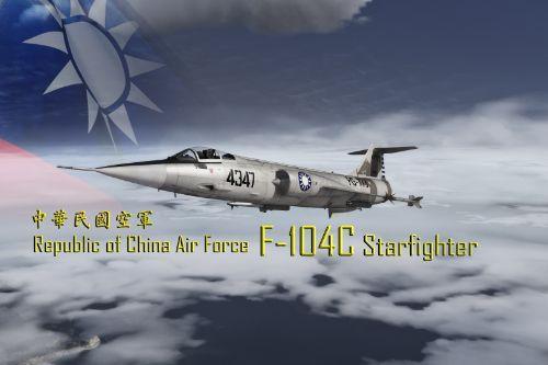 R.O.C (Taiwan) Paintjob for ROCAF F-104C Starfighter
