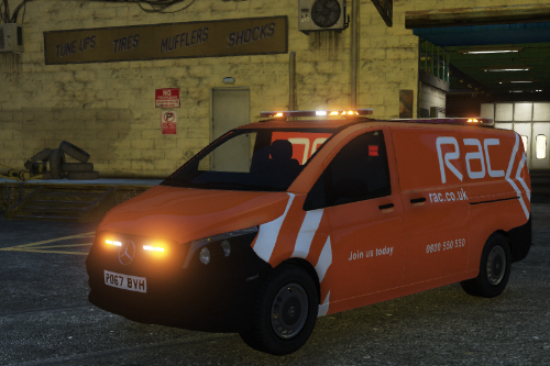 RAC Skin and Orange Lights for 2017 GMP Mercedes Vito