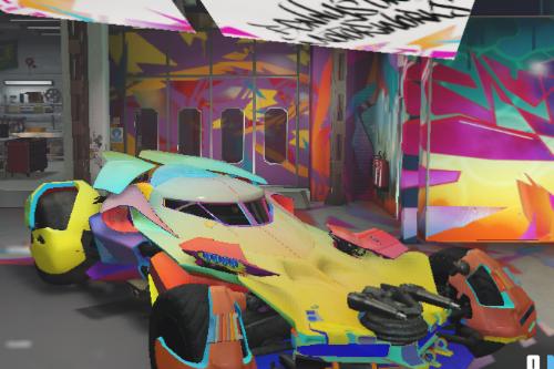Rainbow Batmobile Paintjob