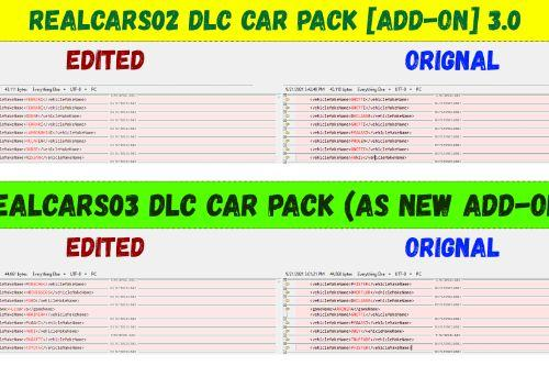 """Re-organized VEHICLES names & makers for """"RealCars 02 and 03 CarPack"""""""