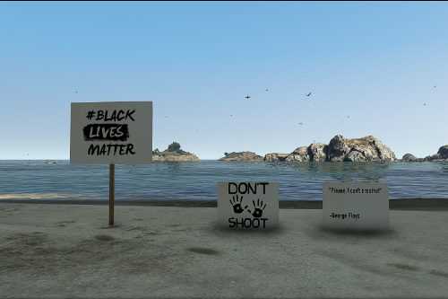 (Re-Texture) 2020 American Protest signs