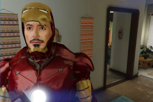 Re-Texture face Iron Man