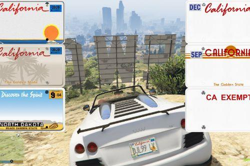 Real California & North Dakota License Plate Pack (High Res & Better Textures)