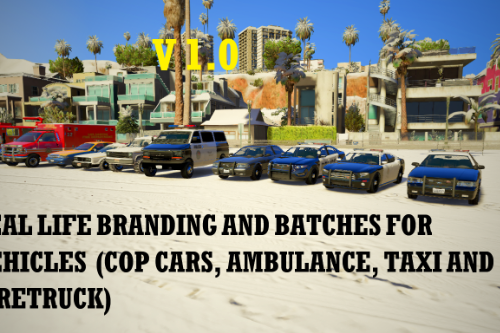 Real life branding and badges for vehicles (cop cars, ambulance, taxi, firetruck)