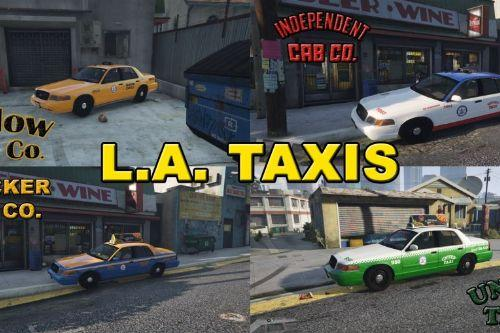 Real Los Angeles Ford Crown Taxi Companies with Advertising