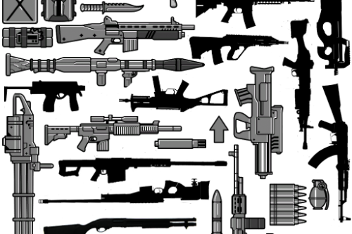 Real weapon icons pack (BLACK)