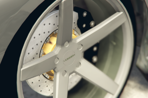 Realistic Brake Rotor (colors) for Brand Rims Pack
